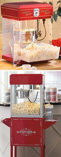 For those Movie Nights ... a home Popcorn machine + retro stand // nostalgic design
