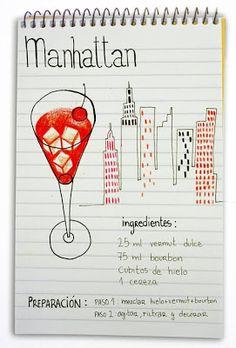 Receta cóctel Manhattan - Descubre Catabox - Packs Gin Tonic y Vino - El regalo perfecto para los amantes de las cosas buenas y bonitas