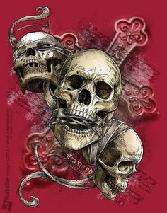 Skulls: #Skulls ~ See no evil; speak no evil; hear no evil.