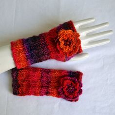 CANDYLICIOUS Fingerless Gloves by FallingLeafDesigns on Etsy, $15.00