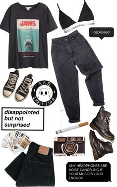 Edgy Outfits, Teen Fashion Outfits, Retro Outfits, Grunge Outfits, Grunge Fashion, Cute Casual Outfits, Look Fashion, Vintage Outfits, Aesthetic Grunge Outfit