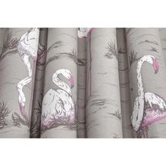 One of Cole & Son's most loved designs, the whimsical Flamingos print is now available in a stunning Linen Union fabric. Bringing a touch of charm to any interior, this pretty upholstery fabric comes in eye-catching tones of White & Fuchsia on Seafoam and White & Fuchsia on Taupe. #fabric #upholsteryfabric #flamingo Flamingo Fabric, Flamingo Print, Small Downstairs Toilet, Contemporary Fabric, Cole And Son, Color Box, Fabulous Fabrics, Soft Furnishings, Order Prints
