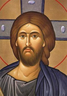 Cristo Pantocratore (particolare volto) (I. Kusov)