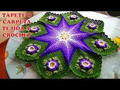 Tapete o Carpeta tejida a crochet o ganchillo paso a paso con Flores de Rosas Hermosas - YouTube
