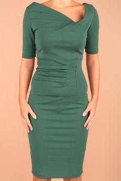 Groene jurk, oranjejurk.
