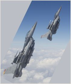 F-16s fully loaded up