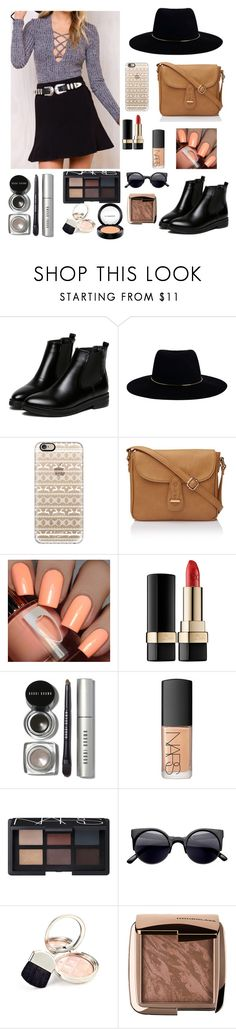 Cafe by gabriellaallen on Polyvore featuring WithChic, Zimmermann, Casetify, Bobbi Brown Cosmetics, NARS Cosmetics, MAC Cosmetics, Hourglass Cosmetics, Dolce&Gabbana and By Terry