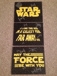 READY TO SHIP Star Wars Logo A Long Time Ago In A by KaleyCrafts