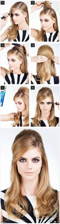 Halloween hairstyles retro bouffant hair tutorial The post Halloween Hair 27 DIY hair tutorials appeared first on Hair Styles. Lazy Girl Hairstyles, Retro Hairstyles, Halloween Hairstyles, Wedding Hairstyles, Office Hairstyles, Party Hairstyles, Fashion Hairstyles, Simple Hairstyles, Latest Hairstyles