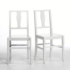 chaise à balustre blanche - La Redoute
