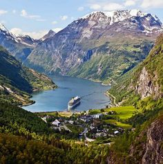 The Geiranger Fjord (Norwegian: Geirangerfjorden) is a fjord in the Sunnmøre region of Møre og Romsdal county in Norway and has been listed as a UNESCO World Heritage Site.