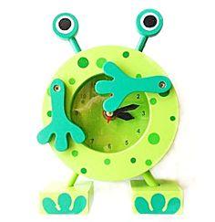 Horloge grenouille en bois. Commerce équitable
