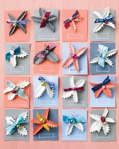 "To prepare as a gift: Cut a 4-by-5-inch piece of card stock. Punch 2 small holes, about 1 inch apart, into the center of the card. Attach the pin or barrette. Using a rubber stamp and a white ink pad, stamp a ""tag."" Write the recipient's name and a greeting."
