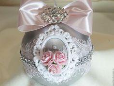 """Набор новогодних шаров """"Серебро"""" – купить или заказать в интернет-магазине на Ярмарке Мастеров   Набор елочных шаров в подарочной коробочке.шары…"""