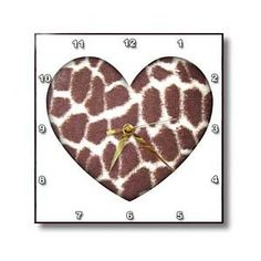 Giraffe Print Heart- Animals- Nature- Art - Wall