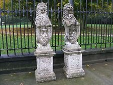 A Pair of Vintage Cast Stone Lions