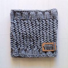 Cuello de una vuelta lana gruesa de Bufandas With Style