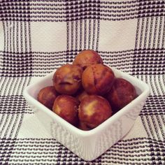 Paleo Peach Coconut Donut Holes - Plaid & Paleo