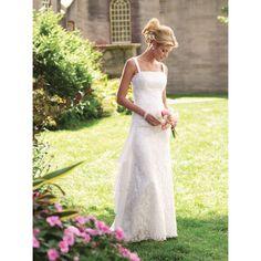 Etui-Linie aus Tüll Carré-Ausschnitt Bodenlang Reißverschluss Weiße schlichte Brautkleider standesamt