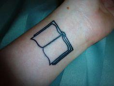 simple book tattoo