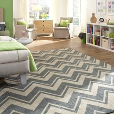 11575 439 096120_rm01, la scala chevron, chevron rug, blue chevron rug, back to campus rug, kids room rug, teen room rug, trendy chevron rug, mohawk chevron rug