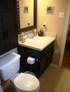 Master Bathroom #Makeover #DIY #Renovation #BeforeAndAfter