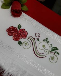 Embroidery, Embroidery Ideas, Cross Stitch Embroidery, Cross Stitch Rose, Bath Linens, Faeries, Ideas, Dots, Flowers