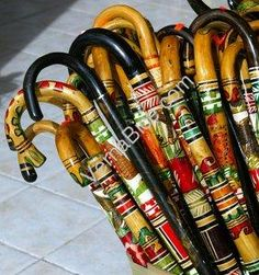 "Walking Cane Decorations Painted Walking Sticks"" Beplak Je Wandelstok Met Washi Tape Buy At"