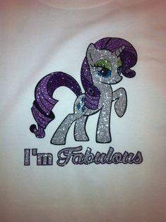 My Little Pony Rarity I'm Fabulous Custom Vinyl by Shirtapalooza, $25.00