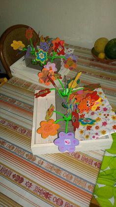 Afscheidscadeau voor de juffen, gemaakt door kinderen van groep 3