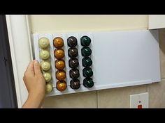 Porta-cápsulas Dolce Gusto! - YouTube Coffee Pod Holder, Coffee Pods, Diy Nespresso, Capsule Dolce Gusto, Coffee Bar Home, Diy Storage, Packaging Design, Diys, Youtube