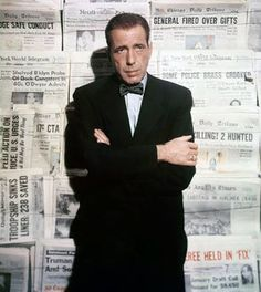 There has been a lot of talk recently about the role of the press (no, we are NOT looking for a political discussion on this page), and it made us think about Humphrey Bogart's role as a newspaper editor in Deadline - U.S.A. (1952). While it is perhaps not one of Bogie's best-known films, we think it's a great movie, and Bogart gives a very strong performance. The film was released on Blu-ray last summer. If you haven't seen it, you definitely should!