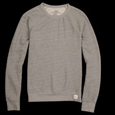 French Terry Sweat Shirt in Grey Heather / Save Khaki at Unionmade