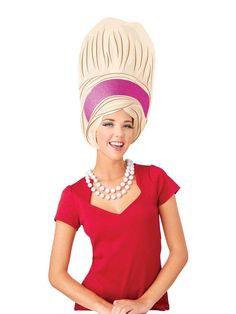 Check out Adult Big Beehive Foam Wig For Adults - Costume Accessories for 2018 | Wholesale Halloween Costumes from Wholesale Halloween Costumes