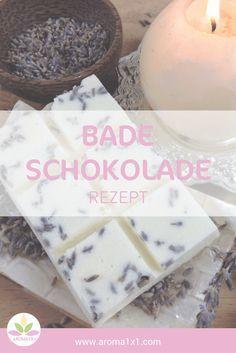 Badeschokolade ist ein luxuriöses Vergnügen. Sie ist leicht selbst herzustellen und eignet sich auch als wunderschönes Geschenk für deine Lieben! Mit viel pflegender Kakaobutter und duftendem Lavendelöl!