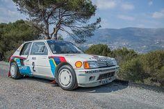 Peugeot 205 Turbo 16 Evolution all'asta la schiacciasassi di Montecarlo