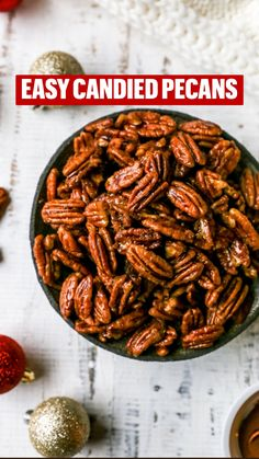 Pecan Recipes, Candy Recipes, Holiday Recipes, Snack Recipes, Christmas Cookies Gift, Christmas Food Gifts, Glazed Pecans, Candied Pecans, Oatmeal Toppings