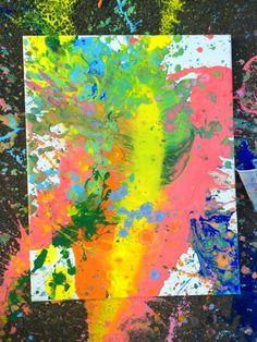 Splatter Pour Painting