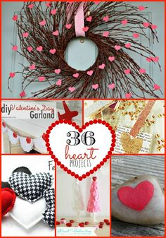 """Each week I look forward to the weekend so I can see all of the ideas linked up to the party. And each week I am more and more inspired by YOUR creativity! This week there were over 200 beautiful Valentine ideas linked up. Here are 36 Fabulous Valentine """"Heart"""" Ideas: Valentine's Day SUnburst @..."""