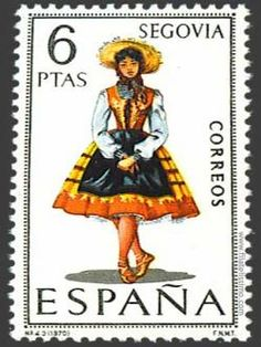 Spain stamp - Regional Costume Segovia