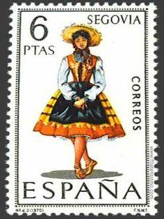 Sello trajes regionales,Segovia