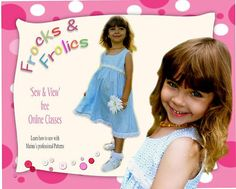 Sewing pattern for a Girl's Summer Dress -  (Georgina) - Digital Sewing pattern, E- Book & Video Instructions
