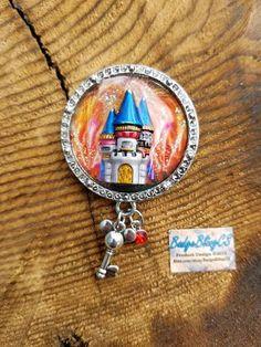 Disneyworld Disneyland badge reel. Check out this item in my Etsy shop https://www.etsy.com/listing/546820873/disneyland-castle-retractable-id-badge