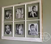 How to turn an old window into a picture frame.