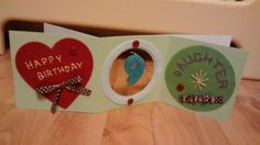 My stitched and candle 9th birthday card for my daughter