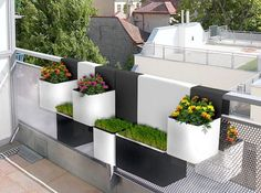 Modern design for urban balcony planter by royer and thirion