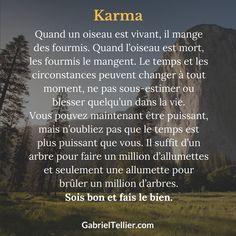 Le Karma. #citation #citationdujour #proverbe #quote #frenchquote #pensées #phrases #french #français