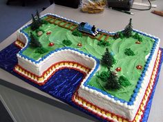 Thomas the Train Cake for-the-kids