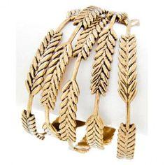Antique Gold Leaf Bracelet