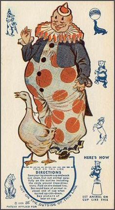 Circus Clown toy card